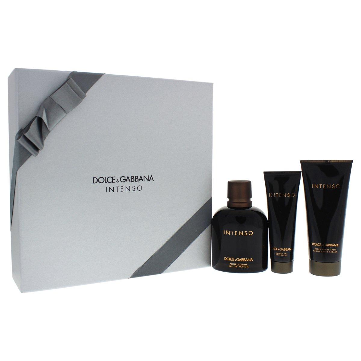 Dolce & Gabbana Intenso Pour Homme, Dárková sada, parfémovaná voda 125ml + balzám po holení 10