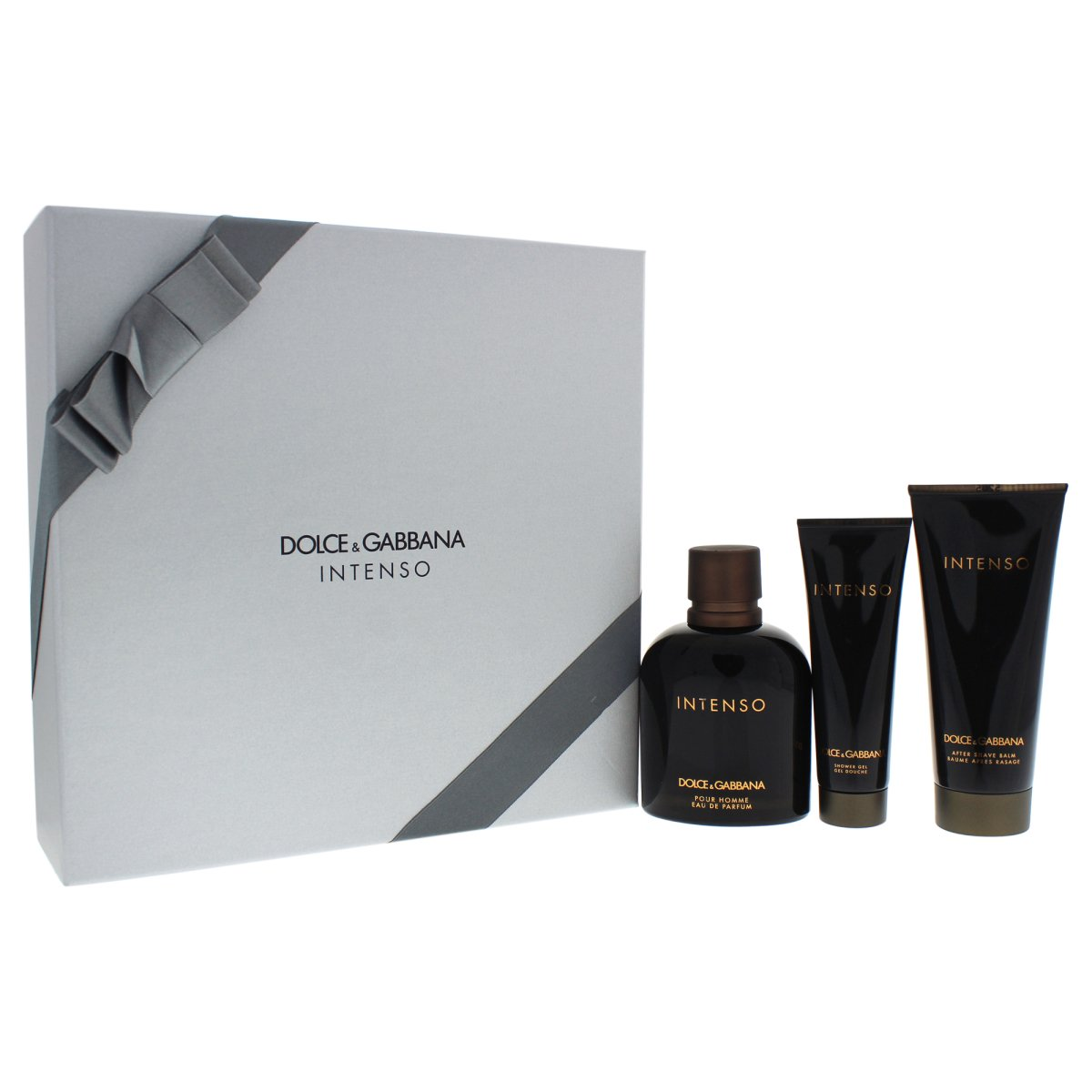 Dolce & Gabbana Intenso Pour Homme, Dárková sada, parfémovaná voda 125ml + balzám po holení 100ml + sprchový gel 50ml , Pánska vôňa