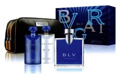 Bvlgari BLV pour Homme, toaletní voda 100ml + balzám po holení 75ml + sprchový gel 75ml + taška, Dárková sada