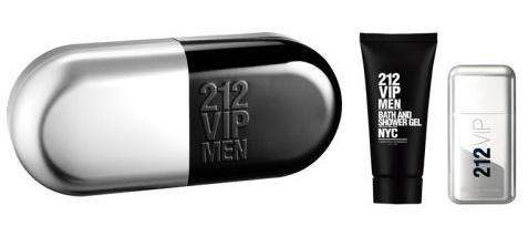 Carolina Herrera 212 VIP Men, Dárková sada, toaletní voda 50ml + sprchový gel 100ml (Metal Box), Pánska vôňa