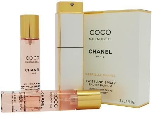 Chanel Coco Mademoiselle, 3x20ml (1x plnitelná + 2x náplň), Parfémovaná voda