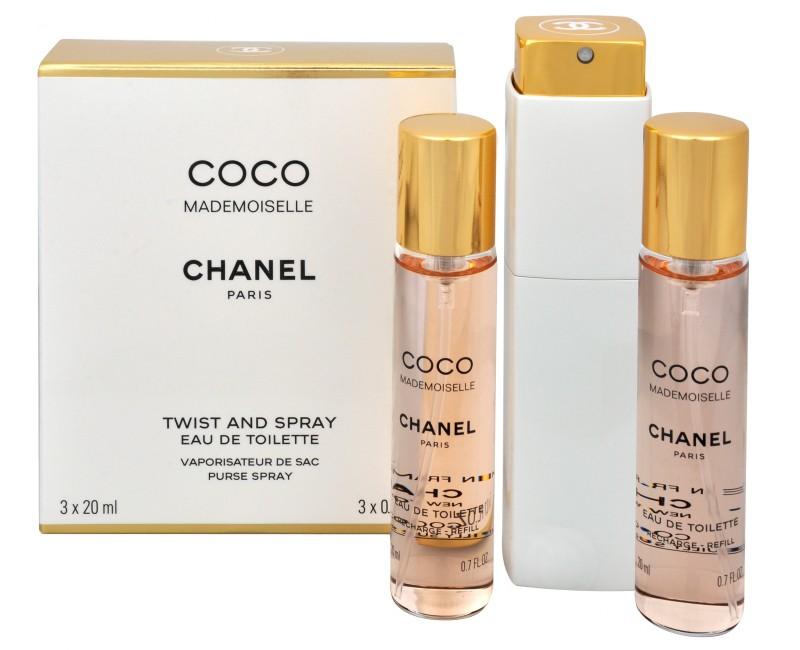 Chanel Coco Mademoiselle, 3x20ml (1x plnitelná + 2x náplň), Toaletní voda