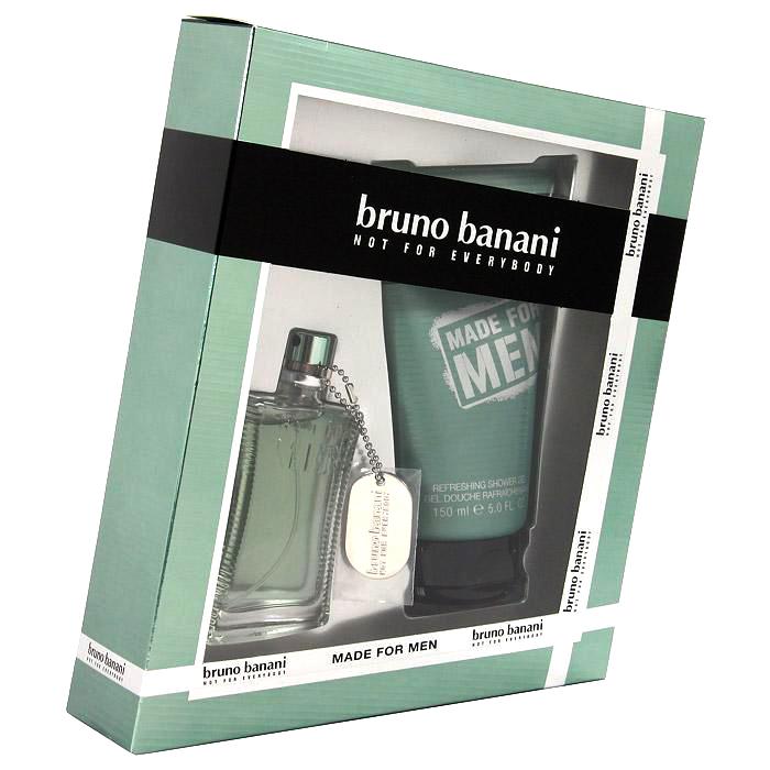 Bruno Banani Made for Men, Dárková sada, toaletní voda 30ml + sprchový gel 50ml, Pánska vôňa