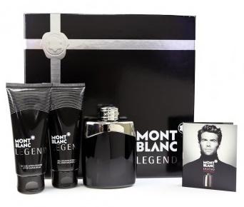 Mont Blanc Legend, Dárková sada, Pánska vôňa, toaletní voda 100ml + balzám po holení 100ml + sprchový gel 100ml + toaletní voda 1.2ml