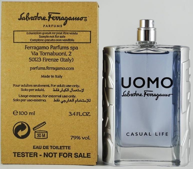 Salvatore Ferragamo Uomo Casual Life, 100ml, Toaletní voda - Tester