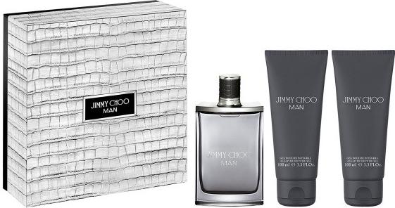 Jimmy Choo Jimmy Choo Man, Dárková sada, toaletní voda 100ml + sprchový gel 100ml + balzám po holení 100ml, Pánska vôňa