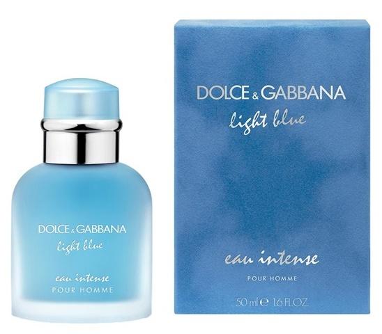 Dolce & Gabbana Light Blue Eau Intense Pour Homme, Parfémovaná voda, 50ml, Pánska vôňa