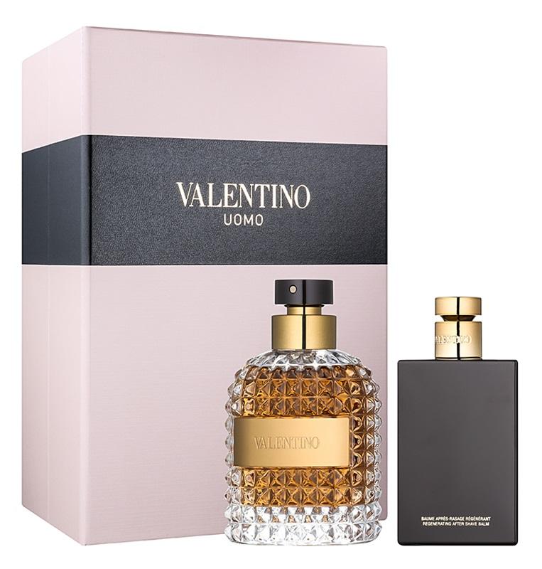 Valentino Valentino Uomo, Dárková sada, toaletní voda 100ml + balzám po holení 100ml, Pánska vôňa