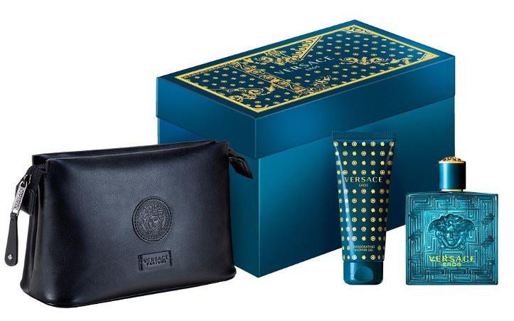 Versace Eros, Dárková sada, toaletní voda 100ml + sprchový gel 100ml + kosmetická taška, Pánska vôňa