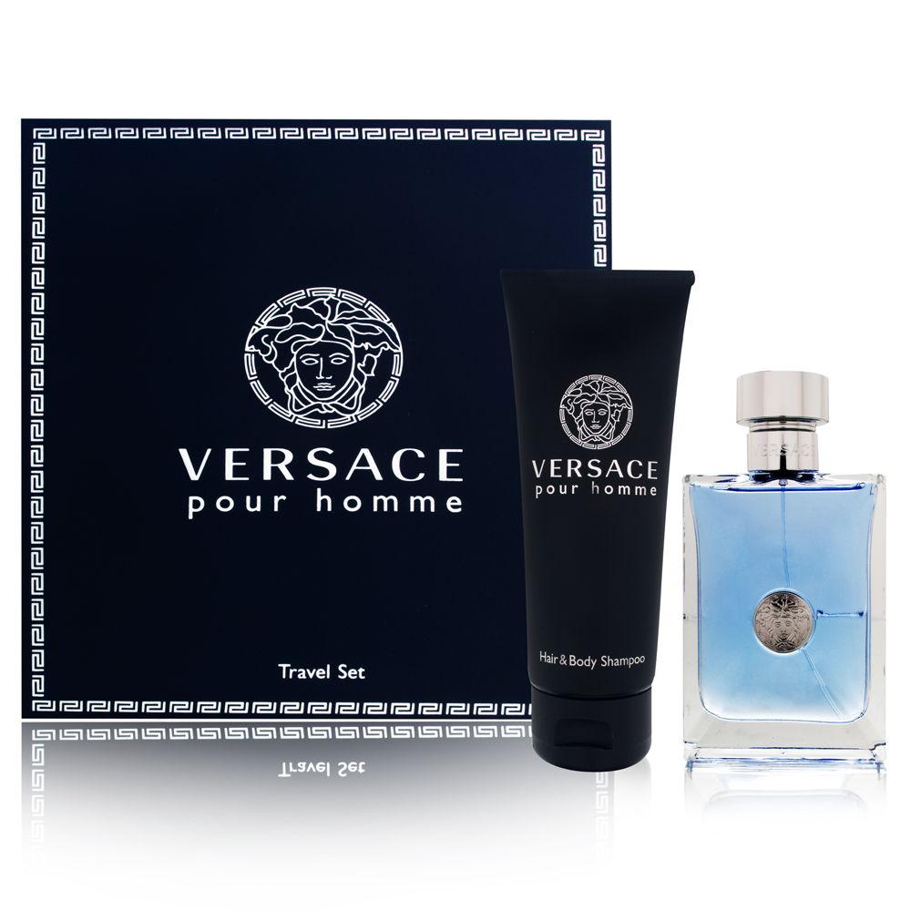 Versace Versace pour Homme, Dárková sada, toaletní voda 100ml + sprchový gel 100ml (Travel set), Pánska vôňa