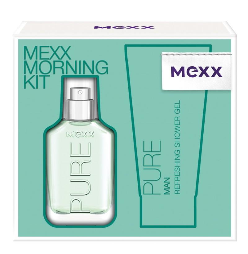 Mexx Pure for Men, Dárková sada, Pro muže, toaletní voda 30ml + sprchový gel 50ml