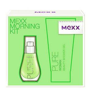 Mexx Pure for Women, Dárková sada, Pro ženy, toaletní voda 15ml + sprchový gel 50ml