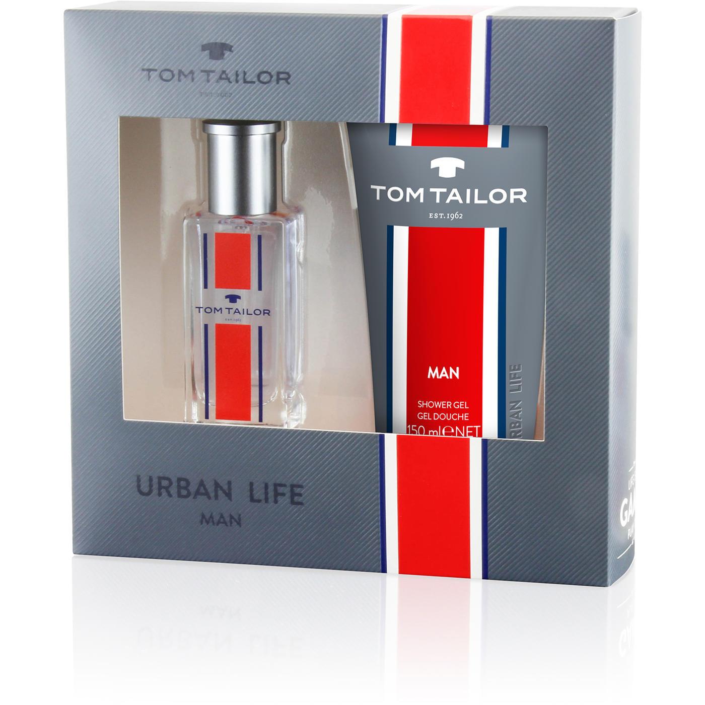 Tom Tailor Urban Life for Man, Dárková sada, Pánska vôňa, toaletní voda 30ml + sprchový gel 150ml