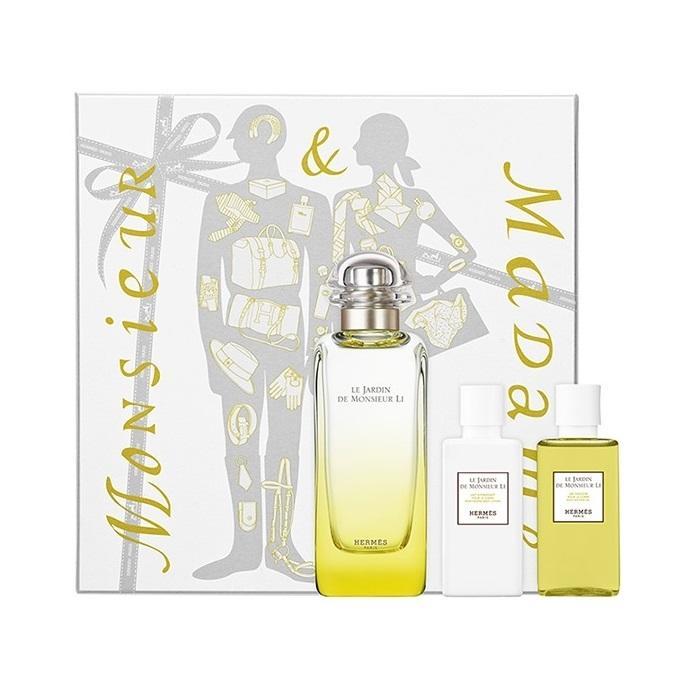 Hermes Le Jardin de Monsieur Li, Dárková sada, Unisex vôňa, toaletní voda 100ml + tělové mléko 40ml + sprchový gel 40ml