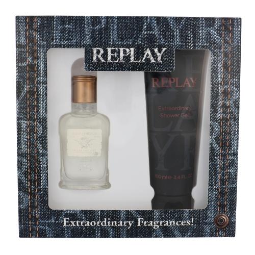 Replay Jeans Original for Him, toaletní voda 30ml + sprchový gel 100ml, Dárková sada