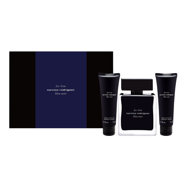 Narciso Rodriguez for Him Bleu Noir, Dárková sada, toaletní voda 100ml + 2x sprchový gel 75ml, Pánska vôňa